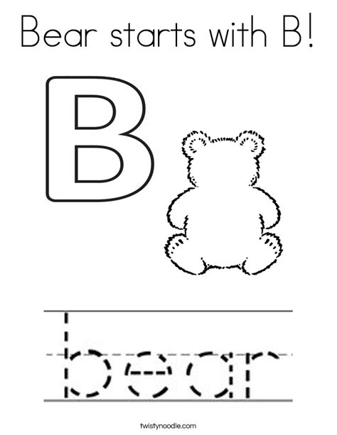 b bear coloring page alphabet letter b bear coloring page for preschool bear