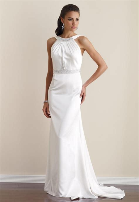 Halter Style exude class in retro wedding dresses styles of wedding