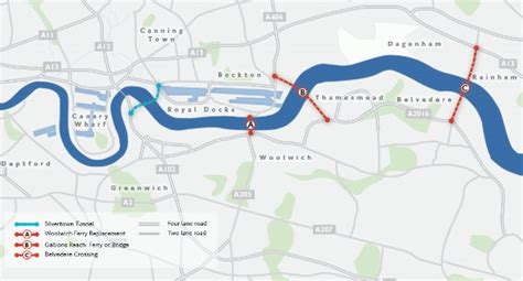 river thames scheme map what is proposed to the east of tower bridge caign