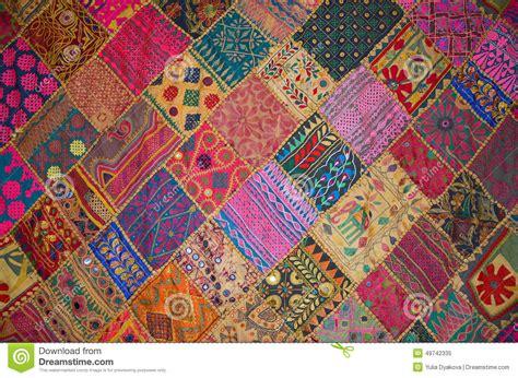 Patchwork Style - couvre lit de patchwork dans le style image stock