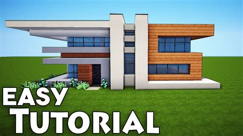 how to build a modern house in minecraft minecraft small easy modern house tutorial how to build a house youtube