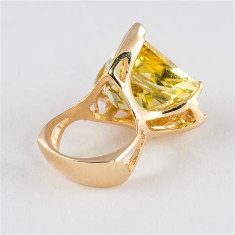 Citrine Rings by 14k Yg Citrine Trillion Ring