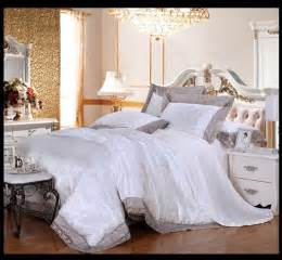 white lace bedding set luxury jacquard satin comforter
