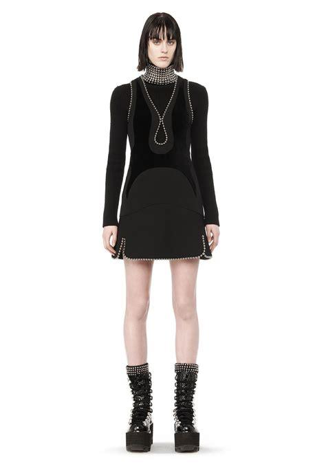 Dress 101525580 Black Official wang exclusive runway paneled dress with keyhole ballchain neckline dress
