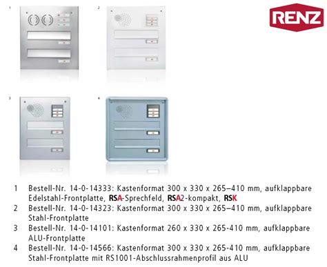 Briefkastenanlagen Freistehend 261 by Mauerdurchwurf Briefkasten Renz 2 Teilig Wagner Sicherheit
