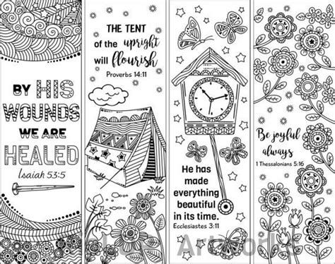 christian bookmarks coloring book 120 bookmarks to color bible bookmarks to color for adults and with inspirational bible verses flower and seniors volume 1 books 8 printable bible verse coloring bookmarks coloring