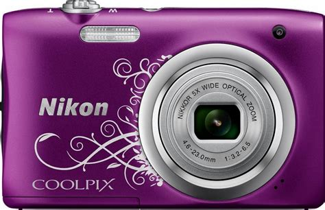 Kamera Nikon A100 nikon coolpix a100 kompakt kamera 20 1 megapixel 5x opt zoom 6 7 cm 2 7 zoll display