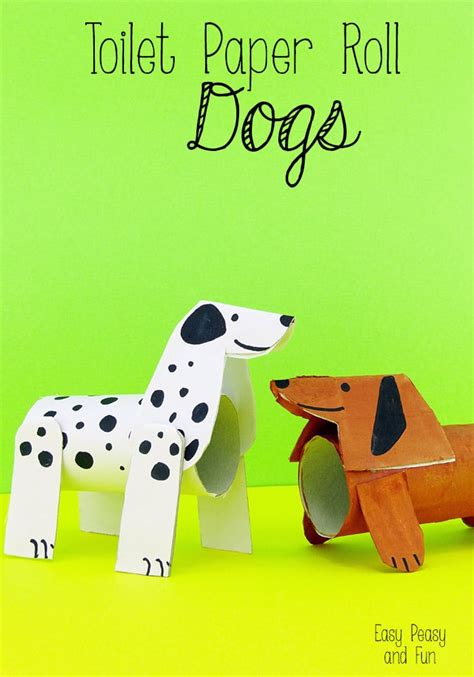How To Make Out Of Toilet Paper Roll - toilet paper roll dogs crafts with toilet paper rolls