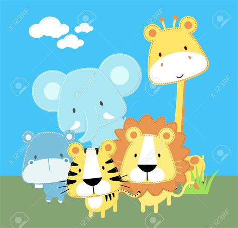 Cute Cartoon Baby Jungle Animals   www.imgkid.com   The