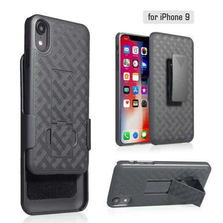 apple iphone xr 2018 belt clip holster cover rubberized kickstand for iphone xr 2018