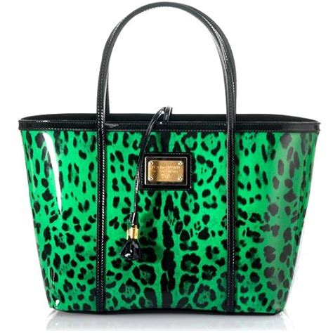 Dolce And Gabbana Patent Tote Bag by Dolce Gabbana Leopard Printed Patent Leather East West Tote