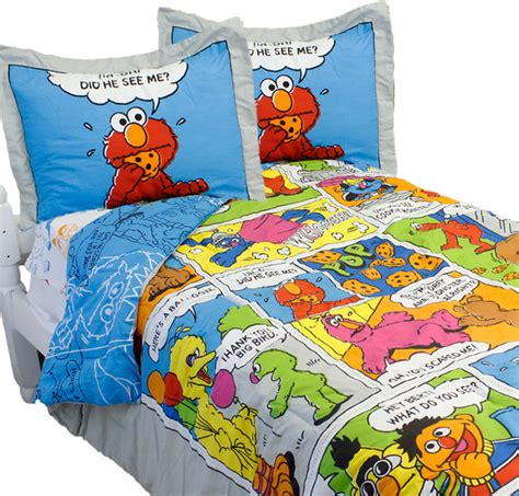 elmo twin comforter sesame street full bedding set elmo comic strip bedding