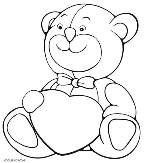 teddy coloring page printable teddy coloring pages for cool2bkids