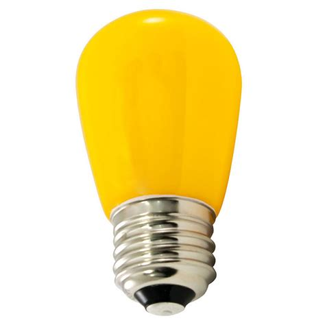 yellow led light bulbs frosted yellow led s14 professional series light bulbs