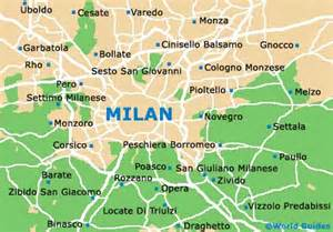 Map Of Milan Italy by Milan Italy Airports Map