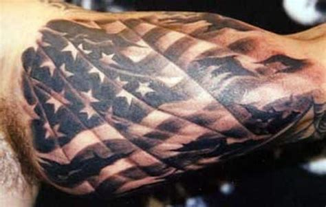 tattered american flag tattoo american flag tattoos for ideas and designs for guys