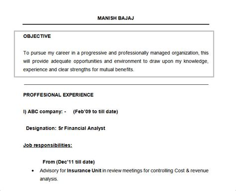 Resume Templates 15 Minutes by Resume Templates For U2013 Brianhans Me Sle