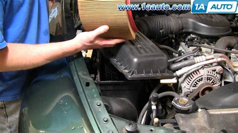 2002 Dodge Ram 1500 Interior Parts How To Install Replace Air Filter Cleaner Dodge Durango