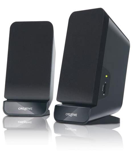 minimalist computer speakers creative a60 2 0 desktop speakers black amazon co uk