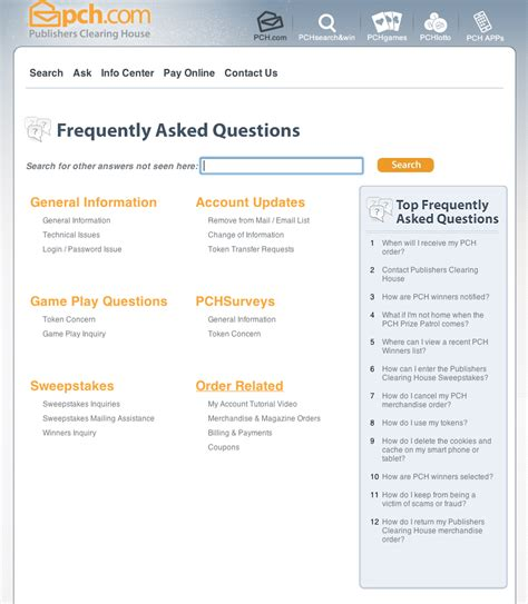 got a question for pch need to contact us check out our new faq page pch blog - Pch Faq