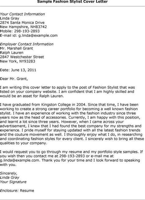 hair stylist cover letters