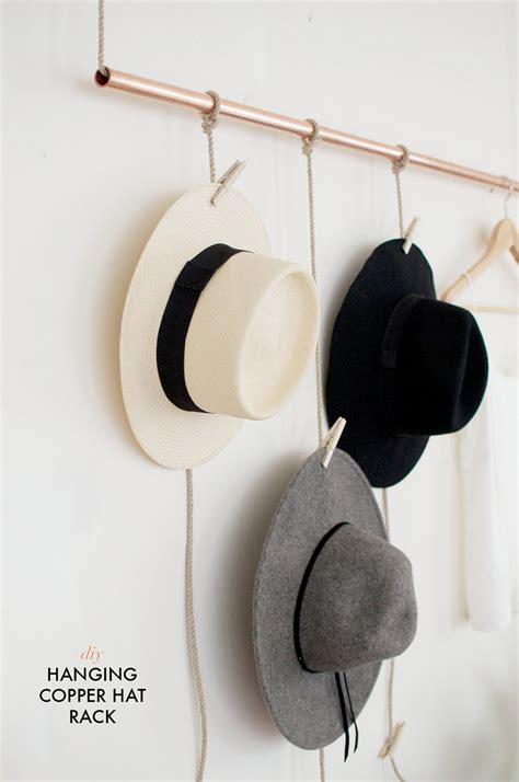 Hat Rack Diy diy hanging copper hat rack a pair a spare