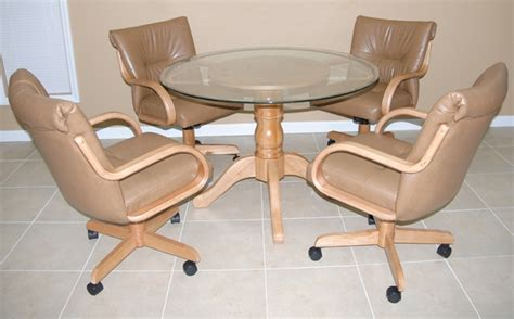Leather Dining Chairs With Casters Appealing Leather Dining Chairs With Casters With Kitchen Dining Chairs With Casters Wayfair