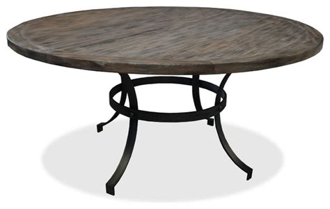 wooden dining table grey 60 quot diameter