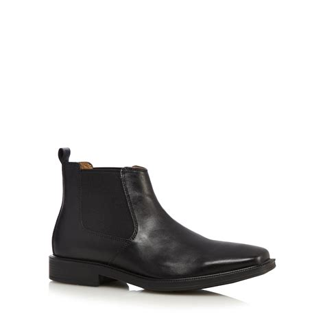 debenhams mens boots henley comfort mens black leather chelsea boots from