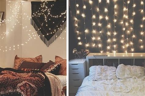 decora tu cuarto con luces 16 geniales ideas para decorar tu habitaci 243 n con peque 241 as