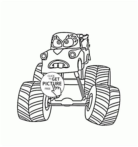 coloring pages mater truck mater monster truck cars coloring page for kids