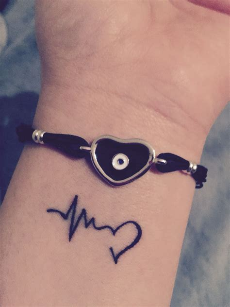 love life tattoo designs wrist wrist heartbeat