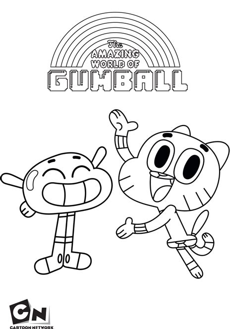 coloring pictures of the amazing world of gumball gumball cartoon network coloring pages