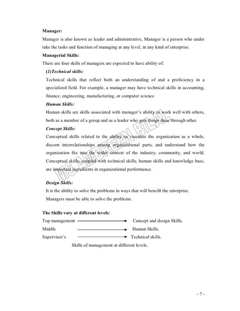 Hrm Lecture Notes For Mba by Principles Of Management Lecture Notes For Mba