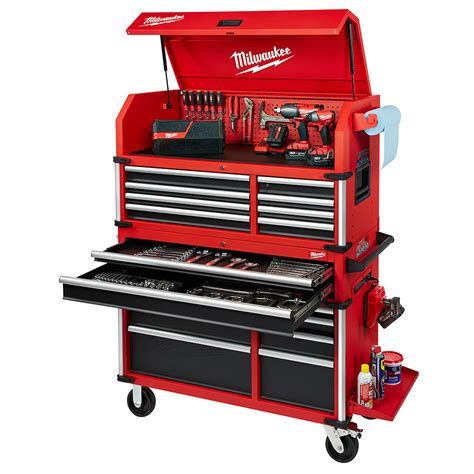 chest and cabinet combo milwaukee 46 quot high capacity steel storage chest and