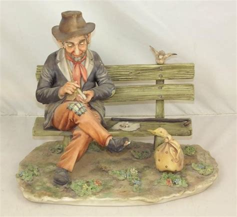 capodimonte man on bench capodimonte figurine of an old man on bench by defendi ha