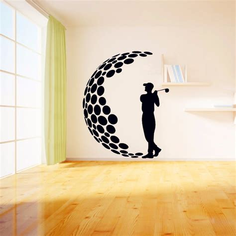 wall stickers decor modern 2016 play golf vinyl wall stickers 3d visual effects