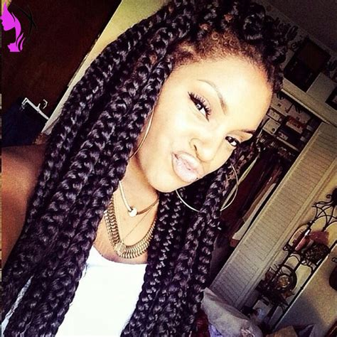 french braids in frnt and boxed braids in back synthetic hair wig for box braid synthetic braiding hair