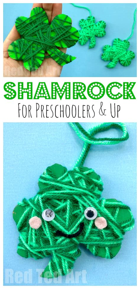 shamrock crafts for yarn wrapped shamrock craft for preschoolers ted