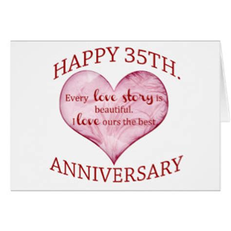 35th Wedding Anniversary by A Happy 35th Wedding Anniversary Hearts Cards Zazzle