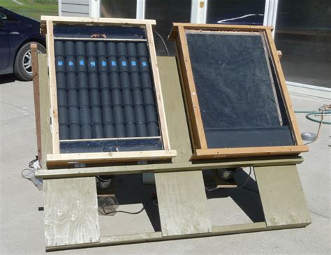 Aluminum Screen Solar Furnace - diy solar air heating collectors pop can vs screen absorbers