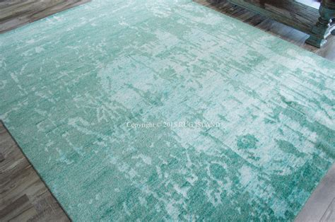 Teal Area Rug 8x10 8x10 7 9 Quot X 9 9 Quot Knotted Nourison Wool Silk Shadows Teal Modern Area Rug Ebay