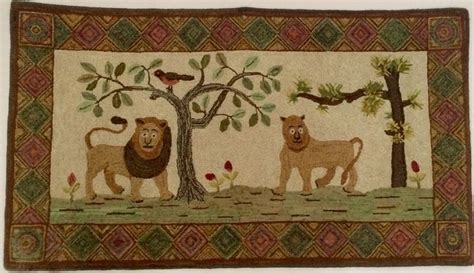 world of rugs gilbert jolly lions hooked by marjorie gilbert rugs hooked by family members