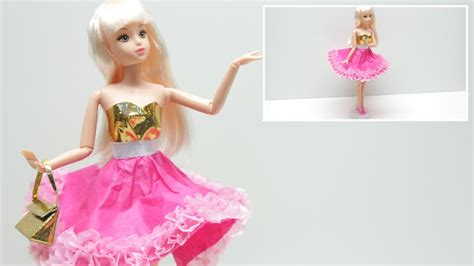 How To Make A Paper Doll Dress - doll dress diy how to make a doll dress in pink and gold