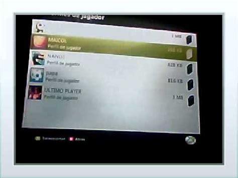 imagenes para perfil xbox 360 como eliminar un perfil de xbox 360 youtube