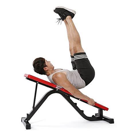 tomshoo adjustable ab sit  bench incline flat abdominal
