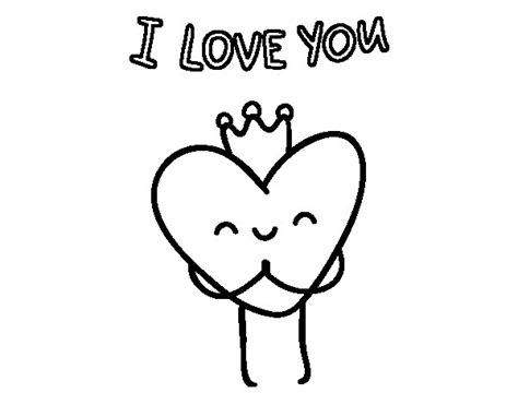 imagenes que digan i love you para pintar dibujo de coraz 243 n i love you para colorear dibujos net