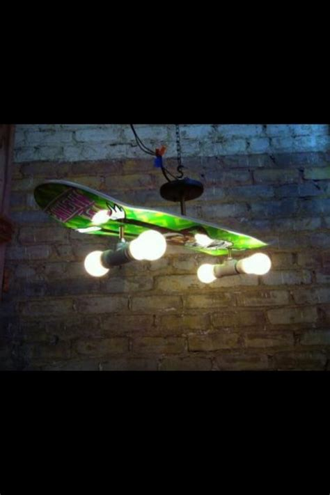 man cave light fixtures boredom led to this diy skateboard chandelier caves
