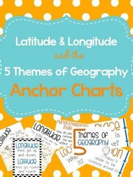 five themes of geography chart latitude longitude 5 themes of geography anchor charts