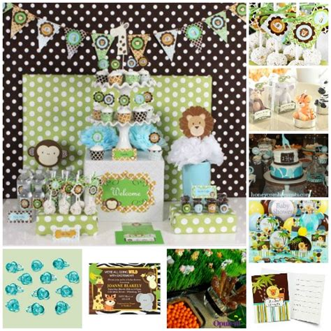 Safari Baby Shower Decorations For A Boy by Best Baby Shower Theme Ideas